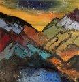 Berge;Acryl3D;gespachtelt;80x80