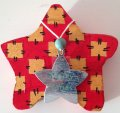 Weihnachtsstern_silber-rot;Holz;Acryl