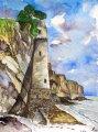 leuchtturm-antik;aquarell;40x30